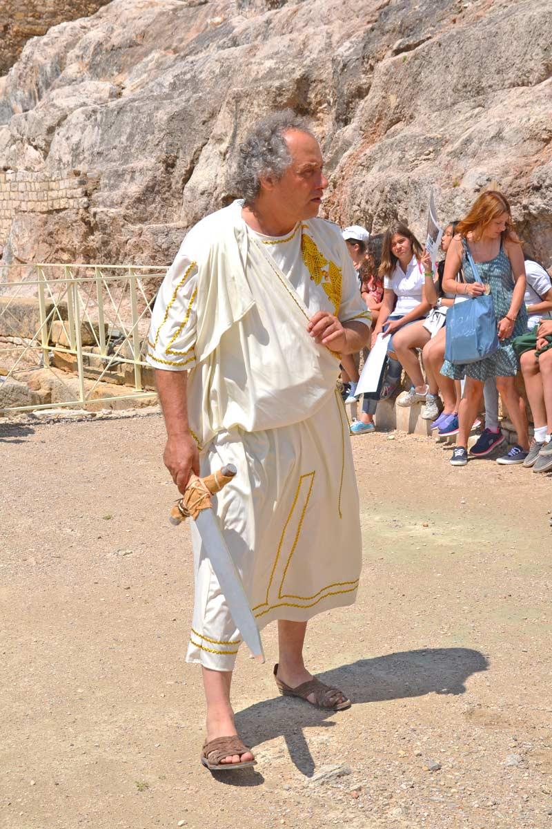 romano en anfiteatro de tarragona