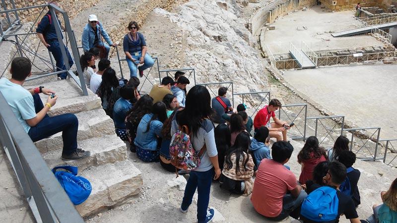 visita guiada tarragona romana escuela anfiteatro