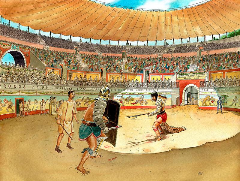 dibuix amfiteatre secundària