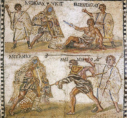 mosaic lluita tarragona romana