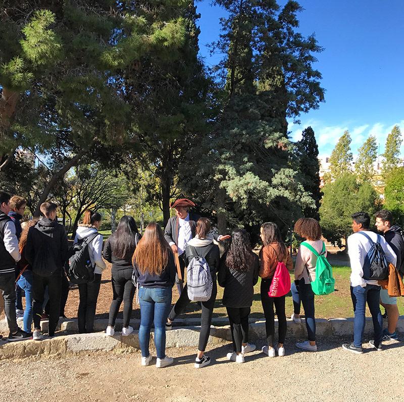 actividades con alumnos de secundaria y martí franquès